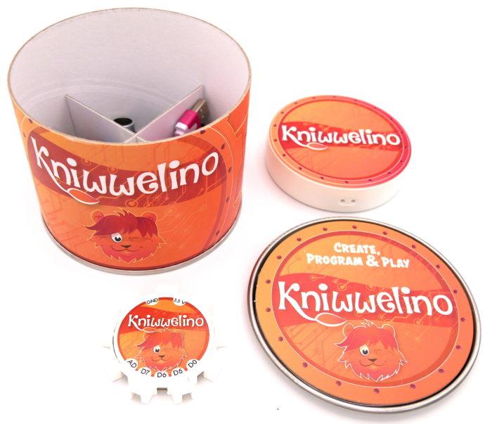 Box Kniwwelino et son contenu avec batterie
